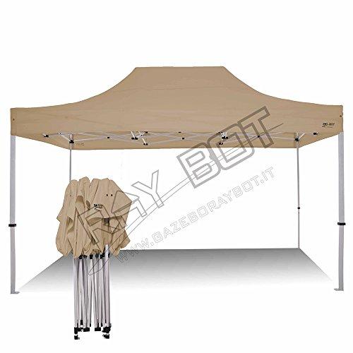 RAY BOT Tente Pliante 3x4.5 M en Acier et Polyester 350g/m² Tonnelle Pliante Chapiteau Barnum avec Les 4 côtés bâches...