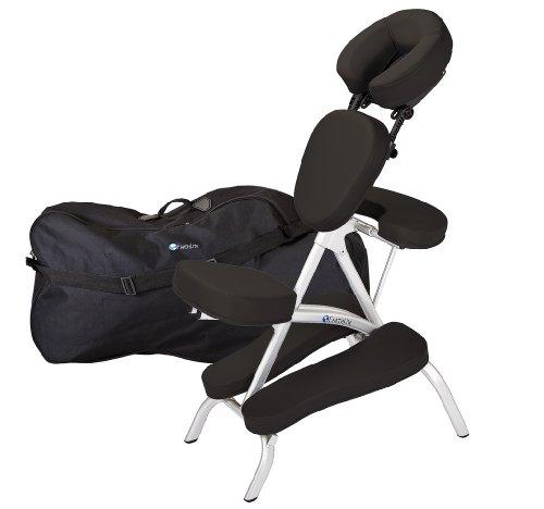 Earthlite Vortex, Sedia da massaggio, pieghevole, con borsa da trasporto, Nero (NS Black), ca. 46 x 70 x 127 cm (aperto), 58,5 x 81,5 x 37 cm (piegato)
