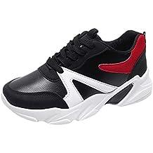 beautyjourney Zapatos Deportivos de Plataforma para Mujer Zapatillas de Deporte Suaves y Transpirables Zapatillas de Correr