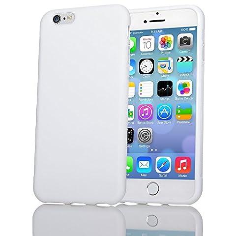Apple iPhone 6 6S Coque Protection de NICA, Housse Silicone Portable Mince Souple, Tele-Phone Case Anti-Derapante Cover Premium, Incassable Ultra-Fine Resistante Bumper Etui pour ip-6 6S - Blanc