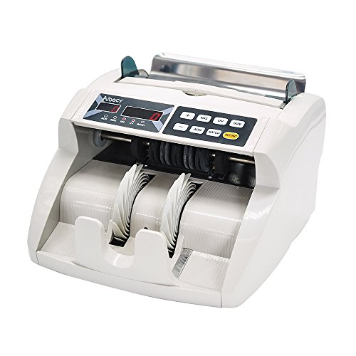 Decdeal Aibecy Desktop Multi-Currency Automatic Cash Banknote Money Bill Counter Counting Machine LED Display with UV MG Counterfeit Detector External Display for Euro/USD/GBP/AUD/JPY/KRW