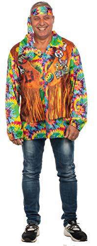 Brandsseller Herren Kostüm Hippie Karneval Party Junggesellenabschied Verkleidung 70er Jahre One Size/Einheitsgröße
