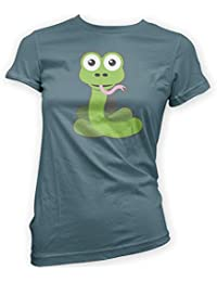 This Way Up Sammy Snake Womens T-Shirt -x14 Colours- S To XXL Sizes