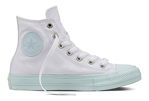 Converse Unisex-Erwachsene All Star II Hohe Sneaker, Mehrfarbig (White/Fiberglass/Fiberglass), 40