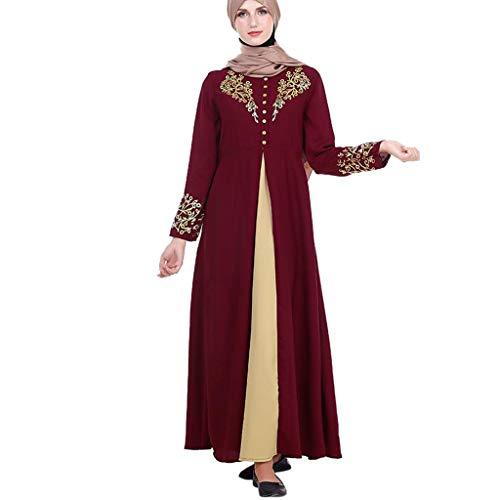 Kostüm Rio Karneval Frauen - Mitlfuny Indian Muslim Islamic Arab Abaya Jilbab Middle Eastern Ramadan,MyBatua Abaya mit Hijab Jilbab Islamischer Kleidung Maxi Muslim Dress Burqa