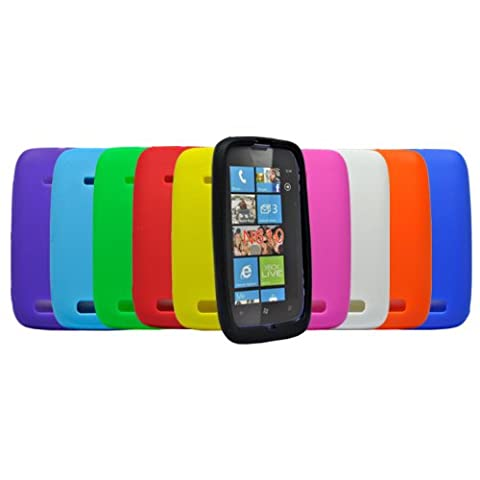 Accessory Master Pack de 10 Coques en silicone pour Nokia Lumia 610 Multicolore
