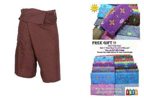Zenza Fashion suwarene Thailand Thai Fisherman Pants 3/4(81,3cm lang) Wadenhohe Wrap Yoga Spa Massage Schwangerschaft Hose aus Leichter Baumwolle