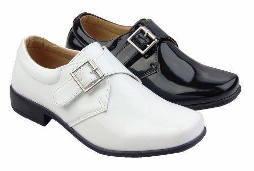 Footwear Studio , Chaussures de ville à lacets pour garçon noir mat