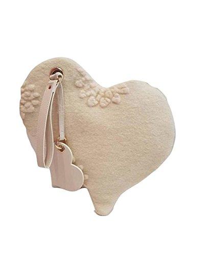 """Bag a forma di cuore """"Le Chicce"""" di Emanuela Biffoli"""