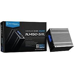 Silverstone SST-NJ450-SXL - Serie Nightjar, Fuente de Alimentación para PC SFX-L 80 Plus Platinum de 450W, Baja sonoridad sin Ventilador, 100% Modular