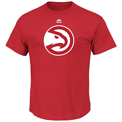 Atlanta Falken Majestic NBA Supreme Logo Men 's Short Sleeve T-Shirt - Rot, Herren, Rot, Medium -