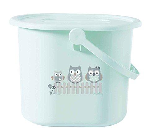 bébé-jou 616132 Windeleimer Owl Family, Eulen, mintgrün