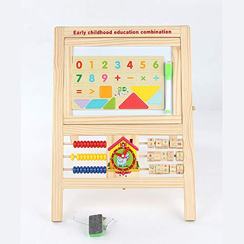 ffelei Magnetisch doppelseitiges Staffelei für Whiteboard & Tafel, Lernspielzeug aus Holz für Kleinkinder ()