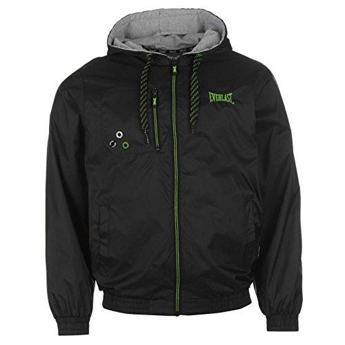 Everlast Mens Geo Rain Jacket Top Coat Breathable Lightweight Mesh Long Sleeve
