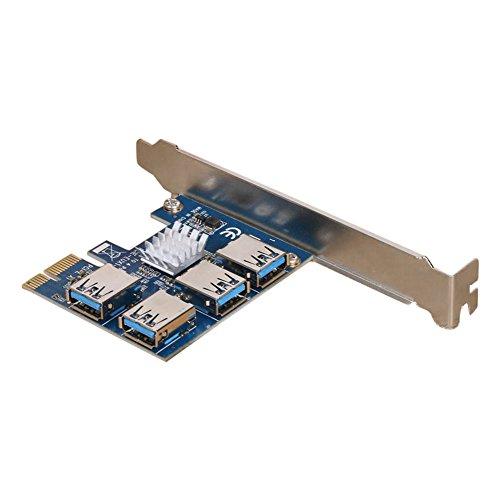 X4 Mit X8-steckplatz (lzn PCI Erweiterungskarte 1 bis 4 PCI Steckplätze USB 3.0 Konverter Adapter PCIE Riser Karten für Bitcoin Mining Device)