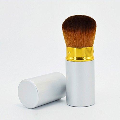 ROMANTIC BEAR Femmes Retractables Kabuki Fard A Joues Teinte Soft Maquillage Cosmetique Pinceau 1pcs
