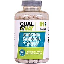 Garcinia Cambogia con L-Carnitina y té verde para reducir el apetito y acelerar el metabolismo - Suplemento alimenticio con propiedades adelgazantes - Potencia el rendimiento deportivo -120 cápsulas