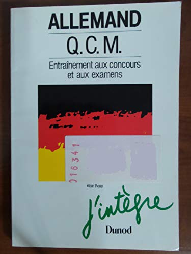 Allemand : QCM : première et deuxième langue : rappels de grammaire et de vocabulaire sujets corrigés