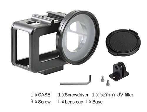 Supremery Aluminium Case für DJI Osmo Action Cam Case Schutzgehäuse Hülle mit 52mm UV-Filter Objektivdeckel und Halterung