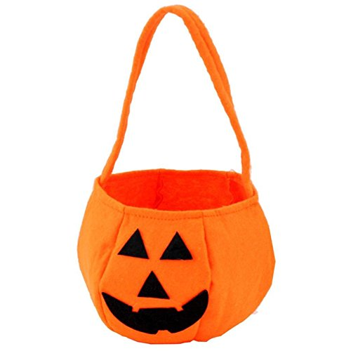 Halloween Kids Trick or Treat Bag, D & & R Halloween Candy Eimer Süßigkeiten/Candy Party Dekoration Zubehör Orange (Eimer Halloween Candy)