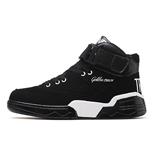 Uomo Moda Scarpe sportive È aumentato Scarpe da corsa Scarpe da pallacanestro Piede di protezione formatori Aumenta le scarpe Allaperto Antiscivolo impermeabile euro DIMENSIONE 39-44 black