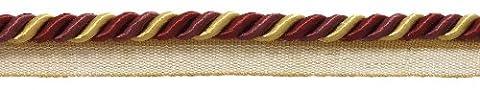 Medium Wein gold Barock Kollektion 5/40,6cm Cord mit Lippe Stil
