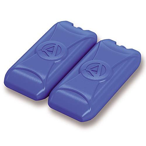 2 Kühlakkus 18x9x5 cm Kühlpack Kühlpacks Kühlelemente für Kühltasche Kühlbox Kühlbehälter Getränkespender Wasserbehälter flach klein Kühlakku Unterwegs 400ml Getränke Sport Camping Picknick