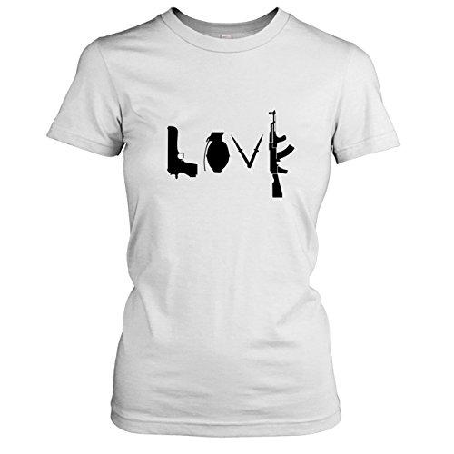 Texlab -  T-shirt - Collo a U  - Maniche corte - Donna bianco 44/46