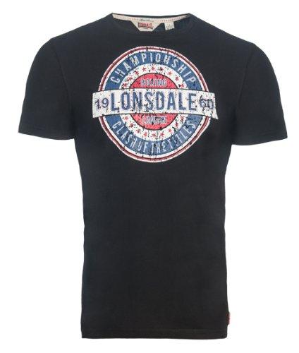 Lonsdale Herren Langarmshirt T-Shirt Trägerhemd Brighton Schwarz
