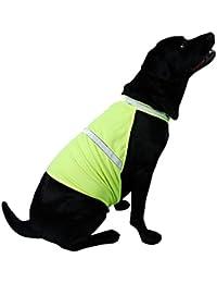 Hrph Se admiten fluorescente de seguridad reflectantes para perros Chaleco ropa de seguridad luminoso impermeable Ropa para mascotas