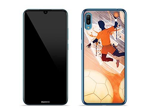 Hülle für Huawei Y6 (2019) - Hülle Fantastic Case - Handball Handyhülle Schutzhülle Etui Case Cover Tasche für Handy