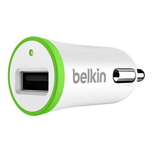 Belkin F8J014btWHT Caricabatteria da Auto, 5 W / 1 A, Bianco