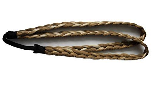 PRETTYSHOP Zopf Haarteil Haarband Stirnband Haarschmuck geflochten div. Farben HZ12-2 -