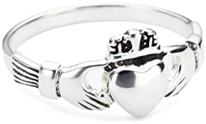 Heritage Womens Sterling Silver Celtic Irish Claddagh Ring 2380HPH Size:H