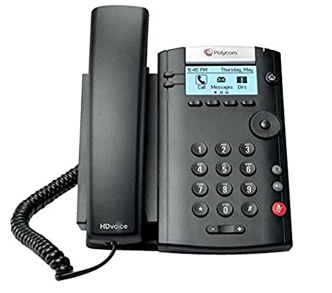 Polycom 2 Line SIP Corded Phone with HD Sound and 2 Ethernet Ports - Black