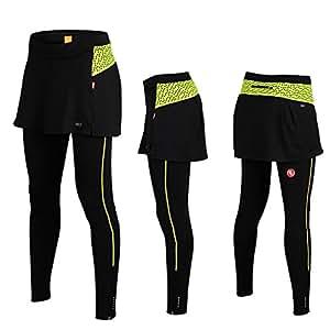 iisport 2015 Nouveau Pantalon de Sport avec Jupe Pantalon 3/4 Longue Maillot de Vélo VTT Vêtement Pantalon Cyclisme femme Pantalon Collant Legging Outdoor