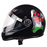 #6: Monarch Junior Full Face Helmet for Kids from 3 to 6 Years (Black,Size-Extra Small)