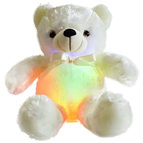 Wewill Marken-kreative super nette glänzende LED-Teddybär-weiche Spielzeug-glühende Spielwaren-Geschenke für Kinder,