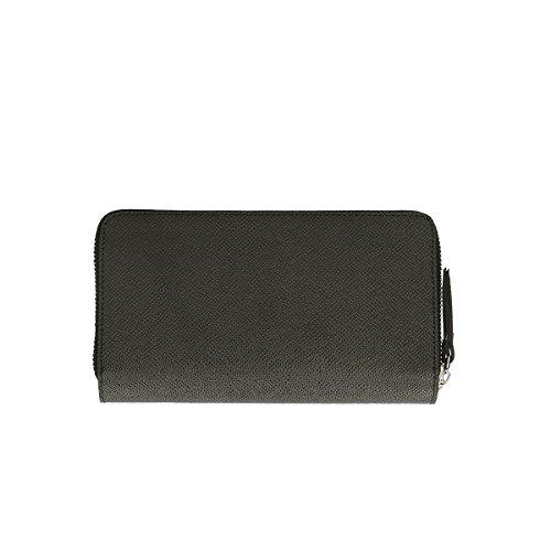 Chicca Borse Portafogli in pelle 21x11x3 100% Genuine Leather Nero