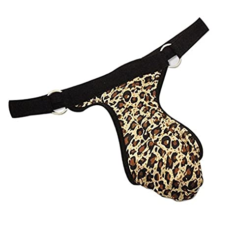 OOCOME 2pcs Hommes Sexy Leopard-print G-string Bikini Briefs Thong T-back