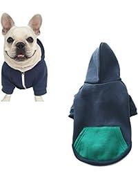 a1324ec0bae9 Meiwash Reißverschluss Kapuzen Haustier Kleidung Hund Katze Kleidung  niedlichen Haustier Kleidung warme Kapuze französische Bulldogge Pug