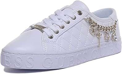 Sneakers GUESS White con Catena Pendenti FL6GRSELE12 Sneaker fantasia trapuntato