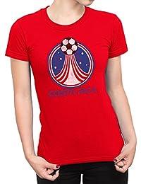 De Las Mujeres Costa Rica Country Name and Rocket Ball Camiseta Fútbol Copa del mundo2018 Señoras