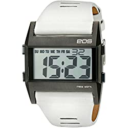 EOS New York Unisex 260SWHT Nocturne Tre Large Digital Display White Armbanduhr