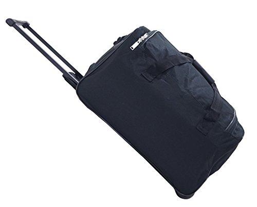 """Set de 2 bolsas de viaje Utopia """" Black """" – Cabina / media Con ruletas"""
