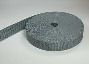 10m PP Gurtband - 30mm breit - 1,8mm stark - grau (UV)