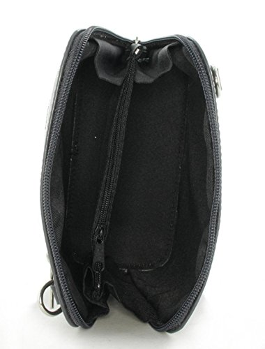 JS Damen Umhängetasche Schultertasche Freizeittasche (Dunkelgrau) Dunkelgrau