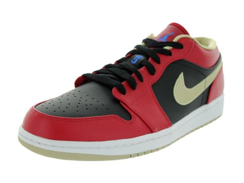 Nike Air Jordan 1 Low 553558-613 Performance Basketball Chaussures Mode Gym Red/Gm Ryl/Blk/Mtlc Gld Str