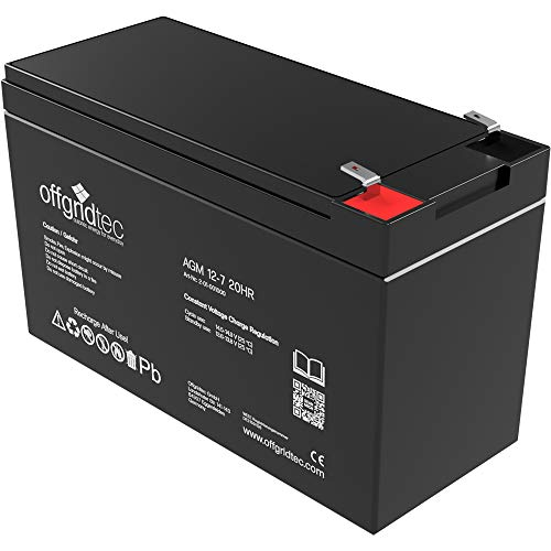 Offgridtec 2-01-001000 7Ah / C10 AGM Solar Batterie für zyklische Anwendungen, 12 V (Batterien Cycle Deep Agm)