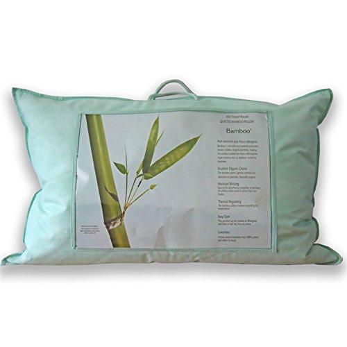 Homescapes Luxus Bio Bambus Kissen für Rückenschläfer – 50 x 75 cm – Allergiker Kissen Härtegrad Weich – Kopfkissen Rückenschläfer - Temperatur regulierend & Atmungsaktiv